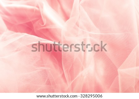 beautiful pink tulle background - stock photo