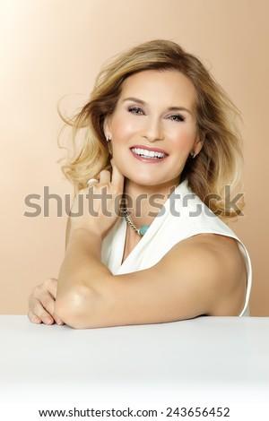 Beautiful polished 40 year old woman.  - stock photo