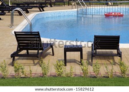 Beautiful pool view - stock photo