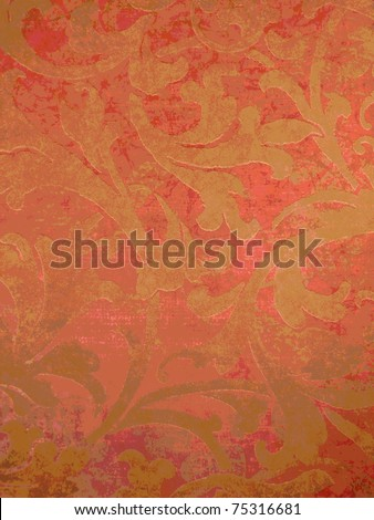 Beautiful pop art oriental style red tile. More of this motif & more backgrounds in my port. - stock photo