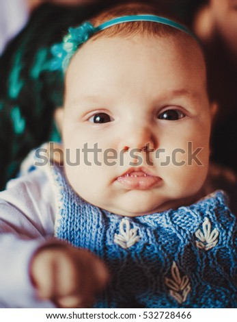beautiful portrait of Incredible and charming newborn baby