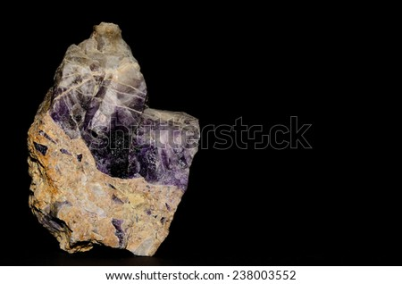 beautiful purple amethyst and black background
