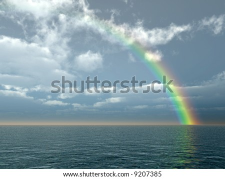 Beautiful rainbow - stock photo
