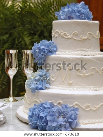 Beautiful reception setting - stock photo