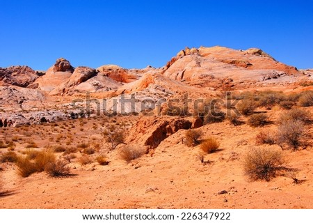 Beautiful red desert, Valley of Fire State Park, Nevada - stock photo