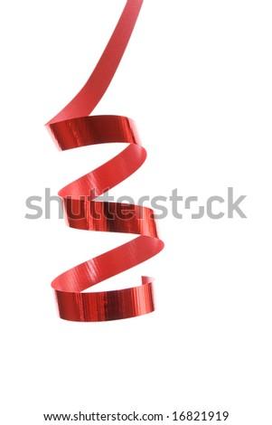 beautiful red ribbon - stock photo