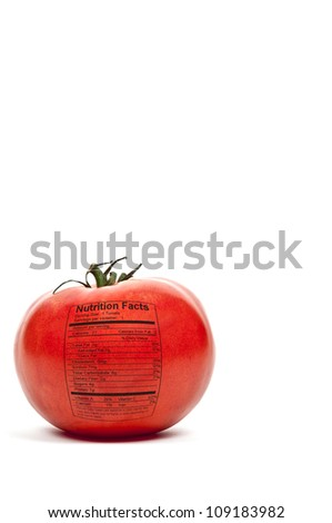 Beautiful red ripe tomato ready to be eaten - stock photo