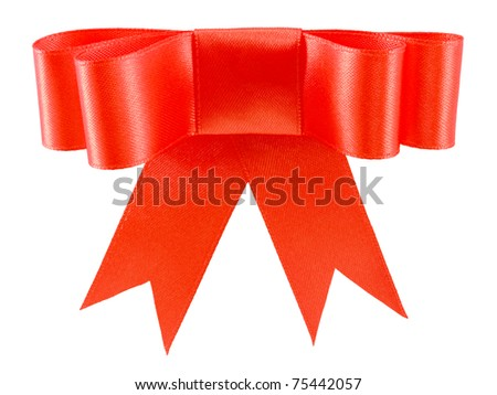 Shutterstocklvvgift bow beautiful red satin gift bow isolated on white negle Image collections