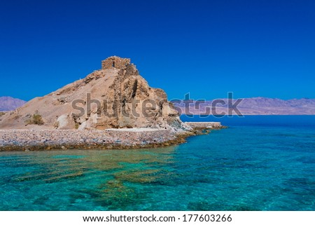 beautiful Red Sea coast on hot egypt