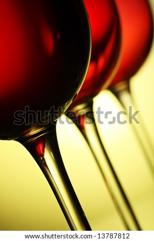 beautiful  red wine glasses