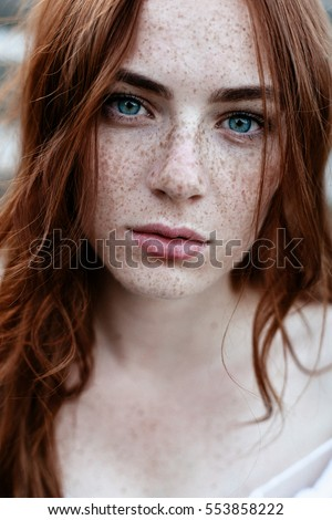 Free natural redhead freckles