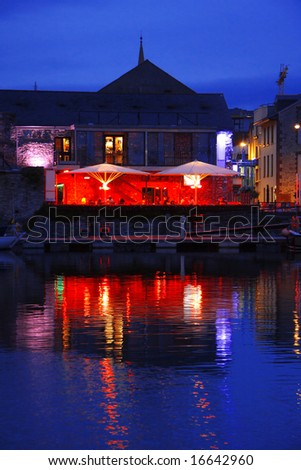 beautiful reflex in the water, Plymouth, UK - stock photo
