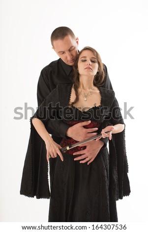 Beautiful Renaissance Couple - stock photo