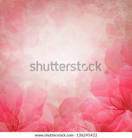 Beautiful retro illustration with hearts - stock photo