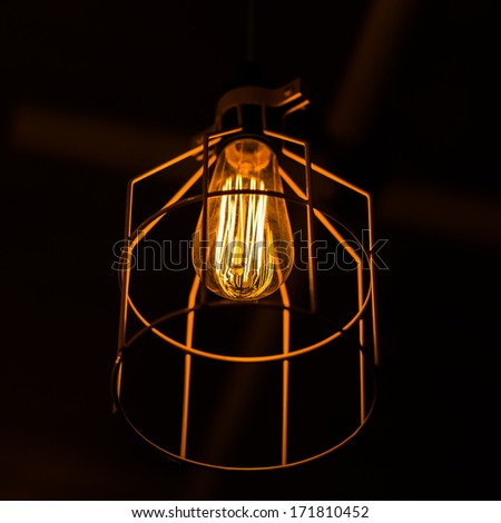 beautiful retro light bulb decor - stock photo