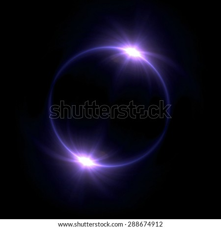 beautiful ring lens flare effect is simple to use add on background