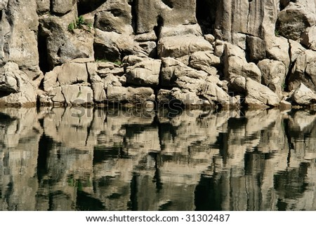 Beautiful river bank _ abstract