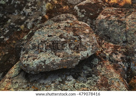 Beautiful rocks in Valley of the Devil Aktovsky Canyon