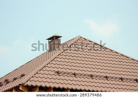 beautiful roof on the house