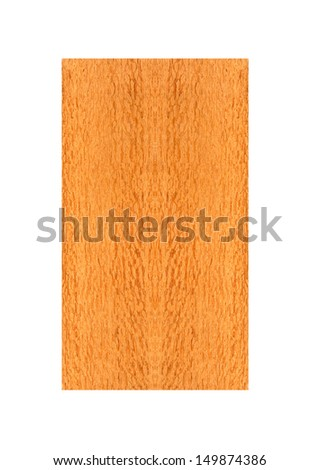 beautiful rough piece of Lace wood from Australian On a white background