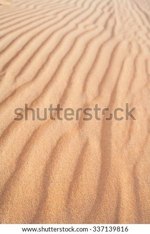 Beautiful sand background. Sand Dune texture blurred background. Sand background. - stock photo