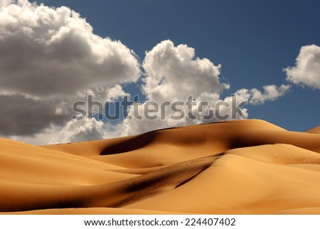 Beautiful Sand Dunes at the Imperial Sand Dunes California - stock photo