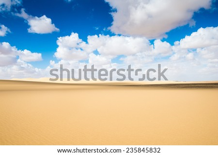 Beautiful sand dunes in the Sahara desert in Egypt - stock photo
