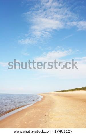 Beautiful sandy beach (Latvia) - stock photo