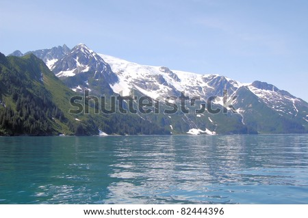 Beautiful Scenery in Kenai Fjord, Alaska - stock photo