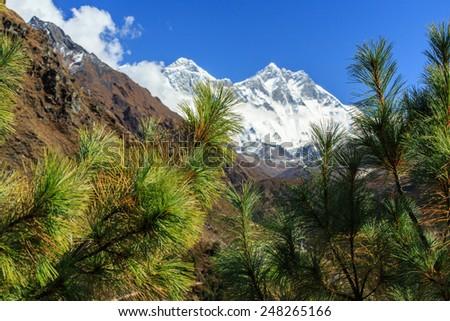 Beautiful scenery in Nepal - stock photo