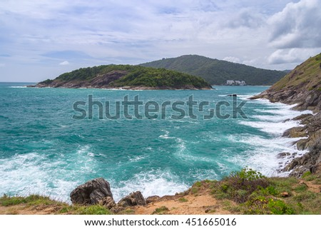 Beautiful Scenic View and Sky Cloud of Phuket Island ,Thailand