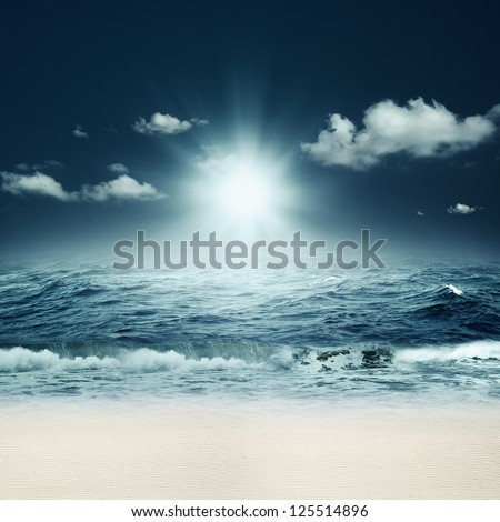 Beautiful sea. Abstract marine backgrounds for your design - stock photo