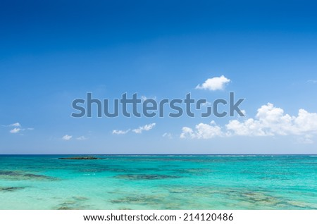 Beautiful Sea And Blue Sky - stock photo