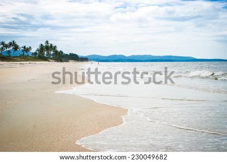 Beautiful sea coast in Goa. India - stock photo