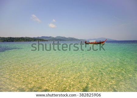 Beautiful sea crystal beach white sand andaman paradise, Thailand