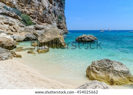 beautiful sea in orosei gulf in sardinia, italy