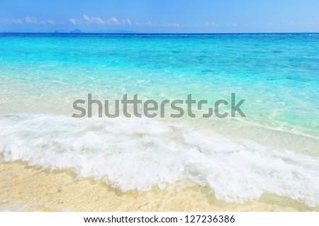 beautiful sea in Thailand - stock photo