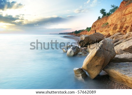 Beautiful sea landscape. Composition of nature. - stock photo