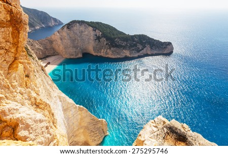 Beautiful sea landscapes on Zakynthos Island in Greece - stock photo