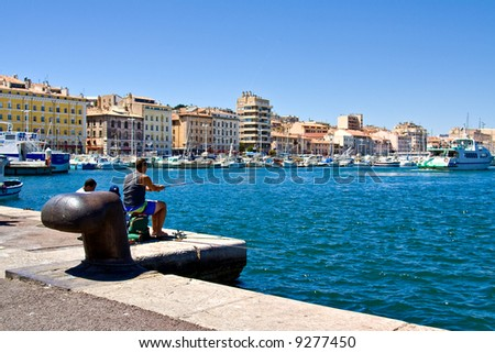 Beautiful Sea port on a beautiful day (Marseille, France)