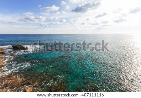 Beautiful sea shore in Cyprus