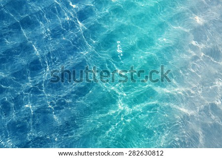 Beautiful sea water is photographed close up - stock photo