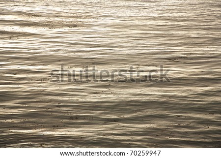beautiful sea with nice harmonic structure and reflections - stock photo