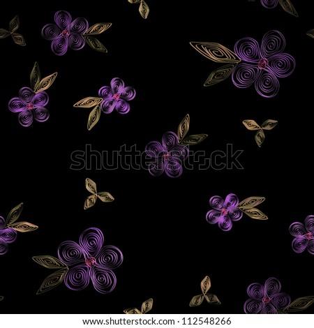 Beautiful seamless floral pattern. - stock photo
