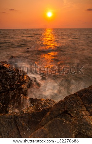 Beautiful seascape - stock photo