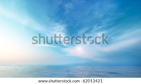 Beautiful seascape. Natural composition of nature. - stock photo