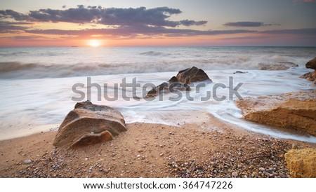 Beautiful seascape. Nature composition. - stock photo
