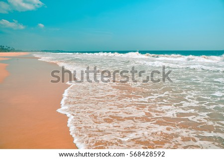 beautiful seascape, tropical beach, Sri Lanka