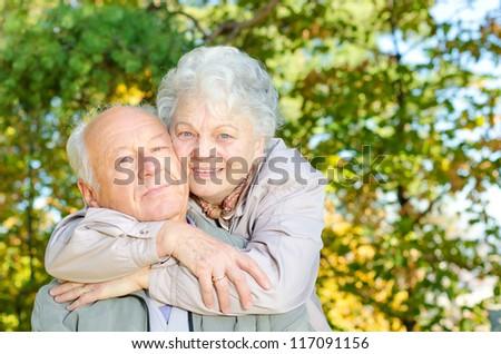 Beautiful senior couple - stock photo