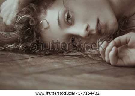 Beautiful, sensual girl  - stock photo